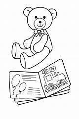 Coloring Toys Pages Toy Bear Books Toddler Bestcoloringpagesforkids Fun Play sketch template