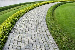 The Stone Block Walk Path In The Park Royalty Free Stock ...