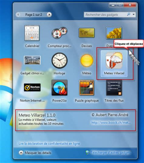 widget meteo bureau mto 1555 villarzel gadget pour windows 7