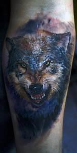 Tatouage Loup Graphique : un tatouage de loup 11 inkage ~ Mglfilm.com Idées de Décoration