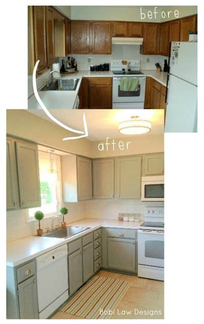 Kitchen Cupboard Makeover Ideas by Bobi Designs Before And After Diy Kitchen Makeover