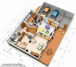 plan de maison 3d pictures to pin on pinterest pinsdaddy With plan architecture maison 100m2