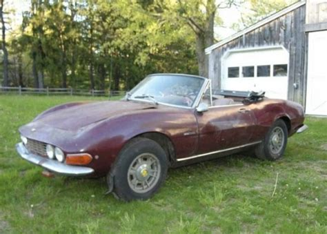 1968 Fiat Spider For Sale by Woodshed Find 1968 Fiat Dino Spider Bring A Trailer