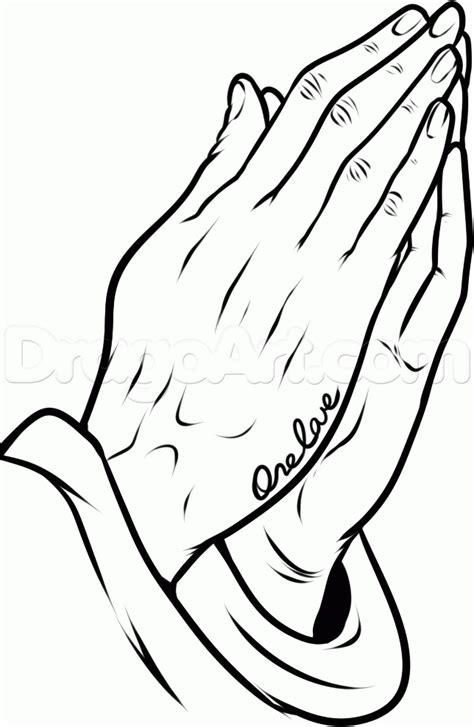 Simple Praying Hands Tattoo Design
