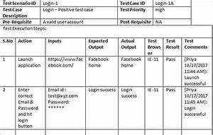 Sample Test Case Template With Test Case Examples  Download