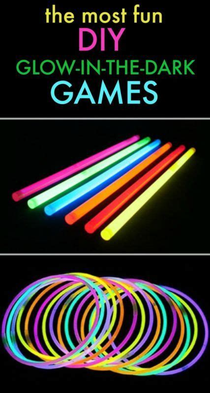 classic glow   dark games lake house kids party