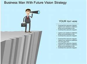 Am Business Man With Future Vision Strategy Flat