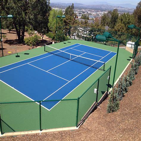 backyard tennis court products gym floors basketball court flooring backyard putting greens southern california
