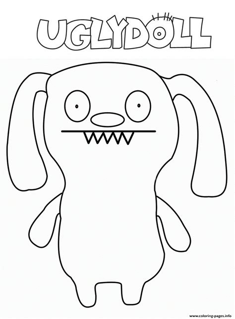 hib eyebye ugly doll coloring pages printable