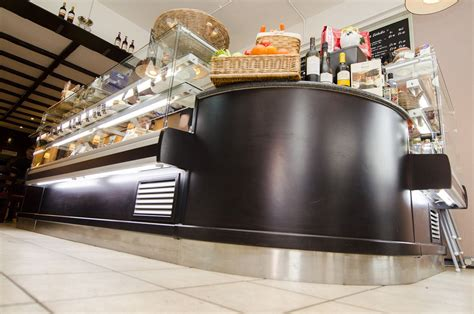 I met some customers are looking for firstly, you see the color match. Front Counters | Catersales | Coffee shop design, Counter design, Coffee shop equipment