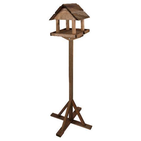 traditional wooden bird table stand premium solid wood