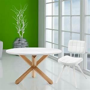 Runder Esstisch Für 6 Personen : runder esstisch aus holz lola mit wei er tischplatte ~ Markanthonyermac.com Haus und Dekorationen