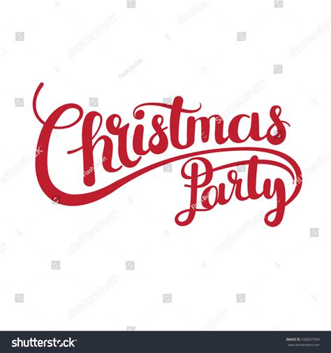 Christmas Party Vector Text Calligraphic Lettering Stock