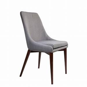 Chaise En Tissu Gris : chaises en tissu juju x2 par drawer ~ Teatrodelosmanantiales.com Idées de Décoration