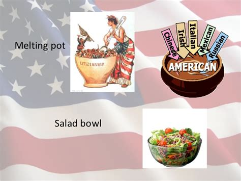 melting pot salad bowl modern american culture