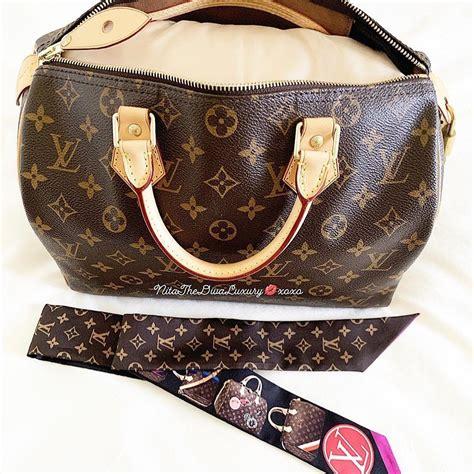satin pillow luxury bag shaper  louis vuitton speedy  champagne  colors