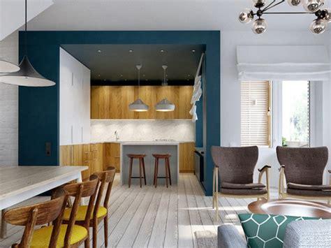 peinture salon cuisine ouverte délimiter une cuisine ouverte joli place