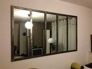 miroir style fenetre d39atelier miroir pinterest atelier With porte d entrée pvc avec maison du monde miroir salle de bain
