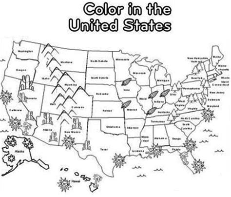 map  state names coloring page coloring pages