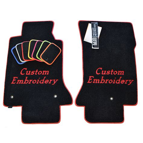 embroidered floor mats custom fit  audi