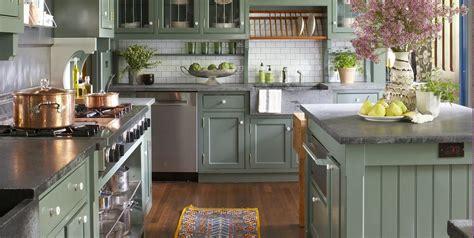 green kitchen design ideas paint colors  green