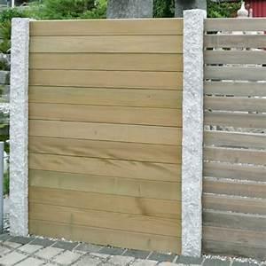 Garten Sichtschutz Holz : palisaden holz sichtschutz ~ Whattoseeinmadrid.com Haus und Dekorationen