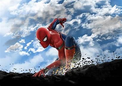 Spiderman Spider Wallpapers Homecoming 4k Superheroes Digital