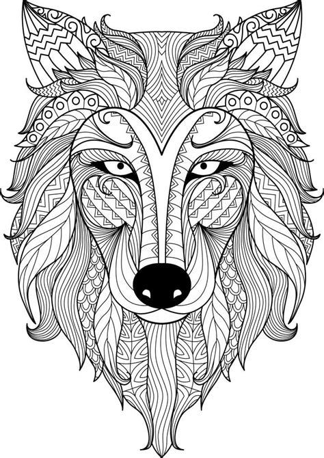 mindfulness coloring wolf mandala coloring books animal coloring pages mandala coloring
