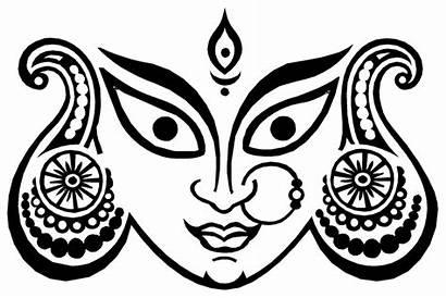 Goddess Clipart Clip Durga Sketch Pencil Cliparts