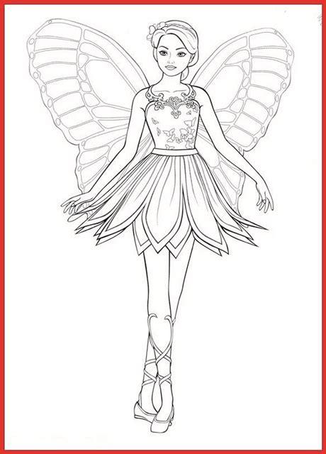 malvorlagen kostenlos barbie mariposa malvorlagencr