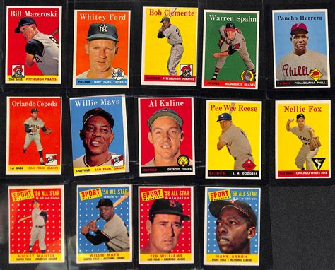 A gem mint 10 card's attributes include 60/40 or better centering, sharp focus, sharp corners, free of stains, no breaks in surface gloss, and little visible wear. Lot Detail - Near Complete High-Grade 1958 Topps Baseball Card Set (Missing Only 3 Cards Listed ...
