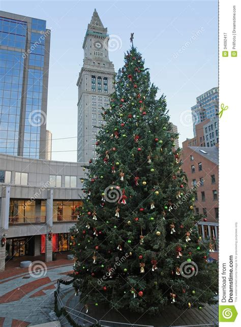 christmas scenery in boston royalty free stock photography