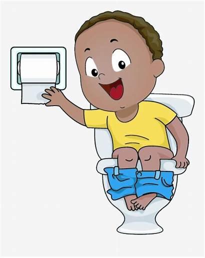 Toilet Potty Clipart Clip Sitting Cartoon Sit