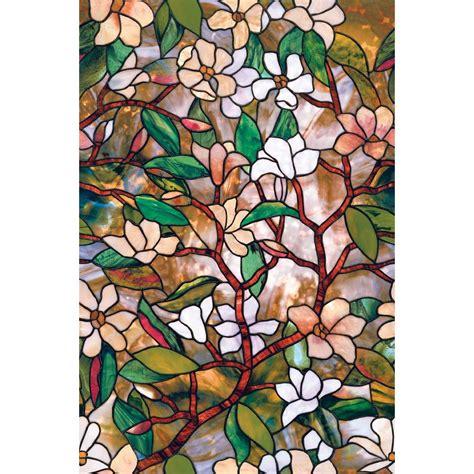 artscape bamboo decorative window artscape 24 in x 36 in magnolia decorative window