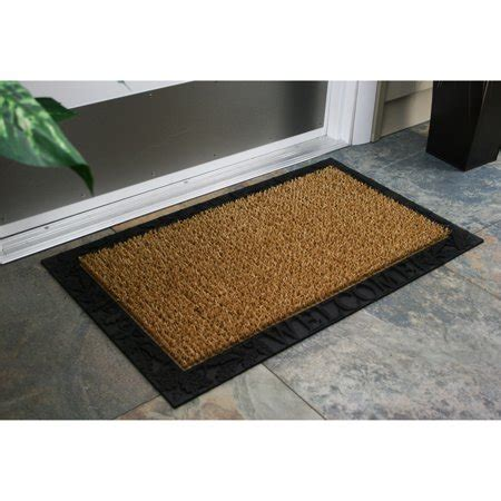door mats walmart astroturf scraper door mat acorn and oak leaf welcome