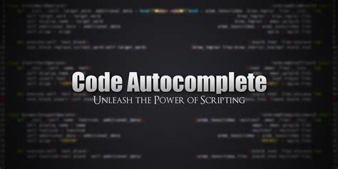 blender autocomplete code wake editor text market