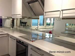 credence en miroir pour cuisine maison design bahbecom With credence miroir pour cuisine