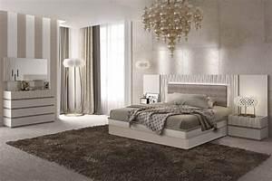 Esf, Marina, Bedroom, Set, In, Light, Grey, Finish, Made, In, Spain