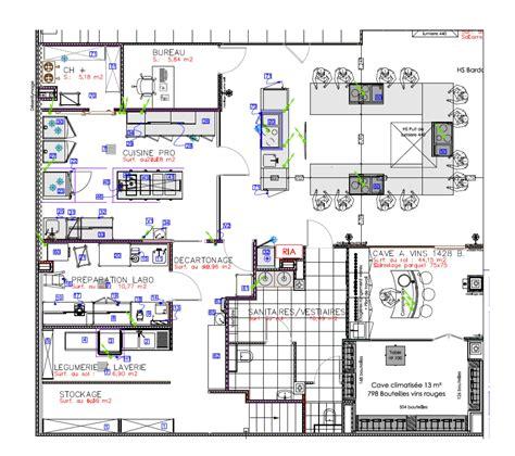 Plan D'architecte De Cuisine Professionnelle  Maison Moderne