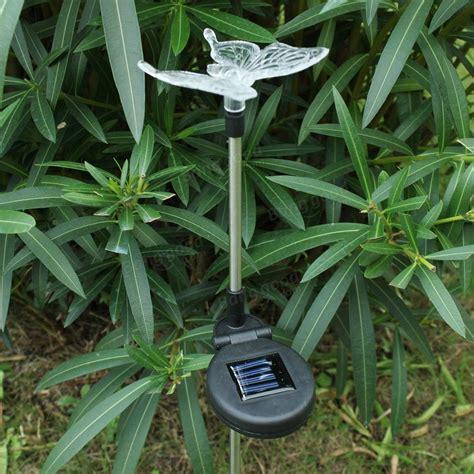 garden yard solar power butterfly stake light us 10 49