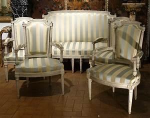 Mobilier De Salon : mobilier de salon epoque louis xvi fauteuils ~ Teatrodelosmanantiales.com Idées de Décoration
