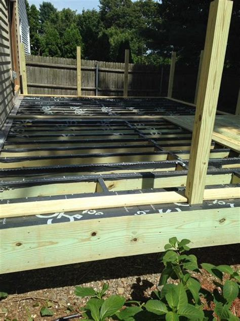 grace vycor deck protector rubber on deck joists a concord carpenter