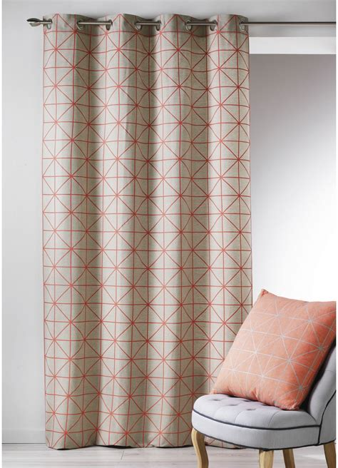 rideau de lavable en machine rideau en toile de coton aux imprim 233 s design corail noir turquoise jaune homemaison