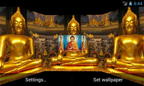 Lord Buddha Animated Wallpapers - lord budha 3d live wallpaper for android apk