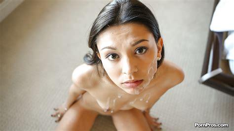 Flat Chested Girlfriend Gets Jizz On Her Face As Token Of Gratitude Pornpics Com