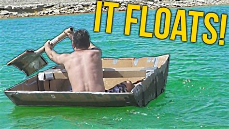 Flex Tape For Boat by I Made A Boat Out Of Cardboard And Flex Tape Youtube
