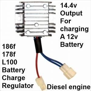 Battery Charge Regulator Rectifier 12v 186f 178f Diesel