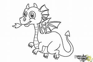 Easy Cartoon Baby Dragon