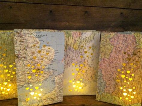 Map Luminary Bags,10 Travel Theme Decor, Made To Order
