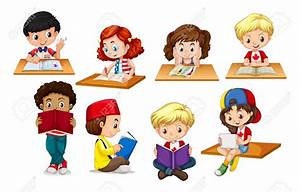 Children Reading And Writing Clipart (71+)